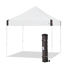 10' x 10' E-Z Up Vantage Shelter with roller Bag and Spikes, White