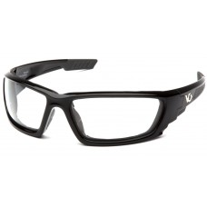 Venture Gear Brevard VGSB1010DTB Safety Glasses - Clear Anti-Fog Lens - Shiny Black Frame - (CLOSEOUT)