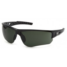 Venture Gear Atwater VGSB1226TB Safety Glasses Black Frame Forest Gray Anti-Fog Lens