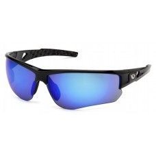 Venture Gear Atwater VGSB1265TB Safety Glasses Black Frame Ice Blue Anti-Fog Lens