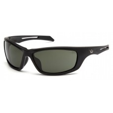 Venture Gear Howitzer VGSB1322T Safety Glasses Forest Gray Anti-Fog Lens with Black Frame