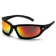 Venture Gear Ocoee VGSB155TB Safety Glasses Black Frame Sky Red Mirror Anti Fog Lens - (CLOSEOUT)