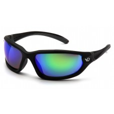 Venture Gear Ocoee VGSB157TB Safety Glasses Black Frame Green Mirror Anti Fog Lens (LIMITED STOCK AVAILABLE)