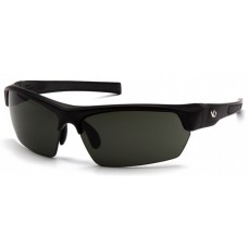 Venture Gear Tensaw VGSB322T Safety Glasses Black Frame Forest Gray Anti-Fog Lens