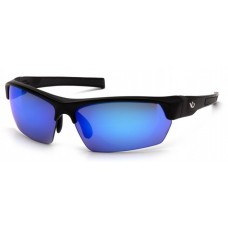 Venture Gear Tensaw VGSB365T Safety Glasses Black Frame Ice Blue Mirror Anti Fog Lens