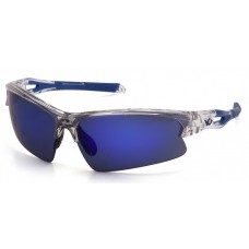 Pyramex Monteagle VGSC1665T Safety Glasses Ice Blue Mirror Anti-Fog Lens with Clear Frame