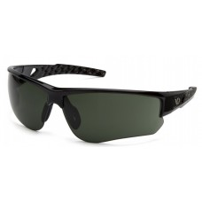 Venture Gear Atwater VGSSB1226TB Safety Glasses Silver Black Frame Forest Gray Anti-Fog Lens