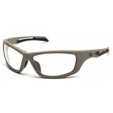 Venture Gear Howitzer VGST1310T Safety Glasses Clear Anti-Fog Lens with Tan Frame