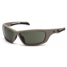 Venture Gear Howitzer VGST1322T Safety Glasses Forest Gray Anti-Fog Lens with Tan Frame