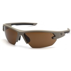 Venture Gear VGST1418T Semtex 2.0 Safety Glasses Tan Frame Bronze Anti-Fog Lens
