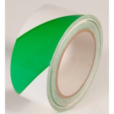 "Incom WT2400 Green / White Hazard Tape - 2"" x 108'"