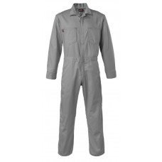 Saf-Tech 7 oz 100% Cotton Indura Contractor FR Coverall - Gray