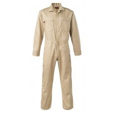 Saf-Tech 7 oz 100% Cotton Indura Contractor FR Coverall - Khaki