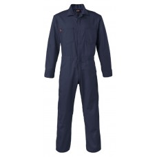 Saf-Tech 9 oz 100% Cotton Indura Contractor FR Coverall - Navy
