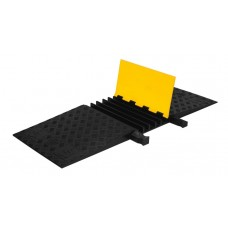 Checkers YJ5-125-ADA 5-Channel Yellow Jacket ADA Cable Protectors - Yellow / Black