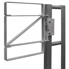 "Fabenco Z70-24 Self Closing Steel Safety Gate - Carbon Steel Galvanized - Fits 24-27"" Opening"