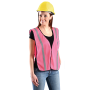 OccuNomix Pink Mesh Safety Vest - Ladies - Non-ANSI (CLOSEOUT - LIMITED STOCK AVAILABLE)